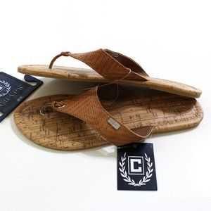 Chaps Women's Brown Sandals Size S 5 6 or M 7 8